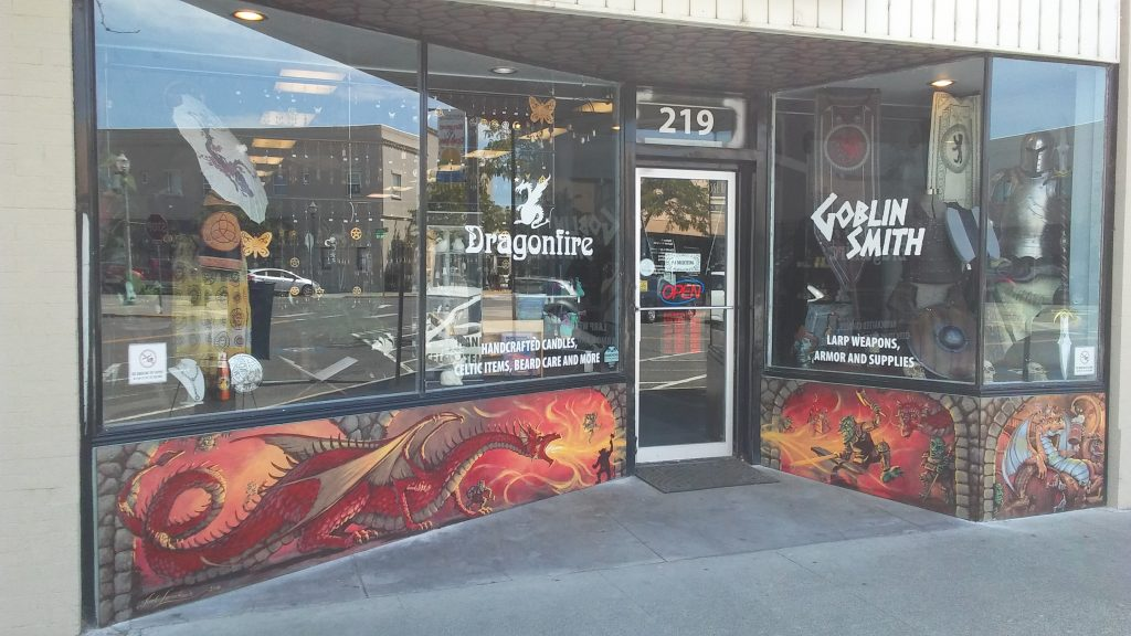 Mural for Dragonfire/Goblinsmith in Kennewick, WA