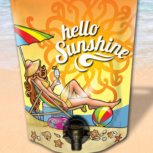 Hello Sunshine Wine Label