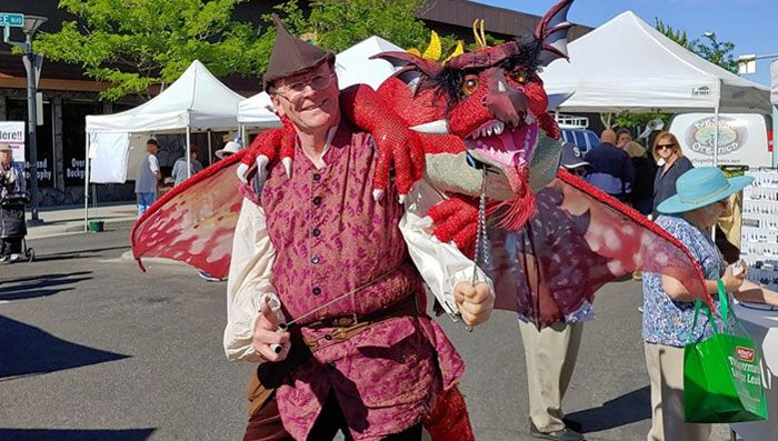 Herb Leonhard and Dragon Puppet