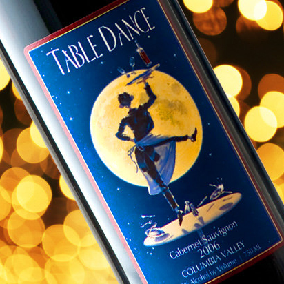 Table Dance Wine Label